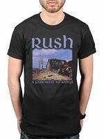 Official Rush A Farewell To Kings T Shirt Rock Band Tour Merch Geddy Lee Man Fashion