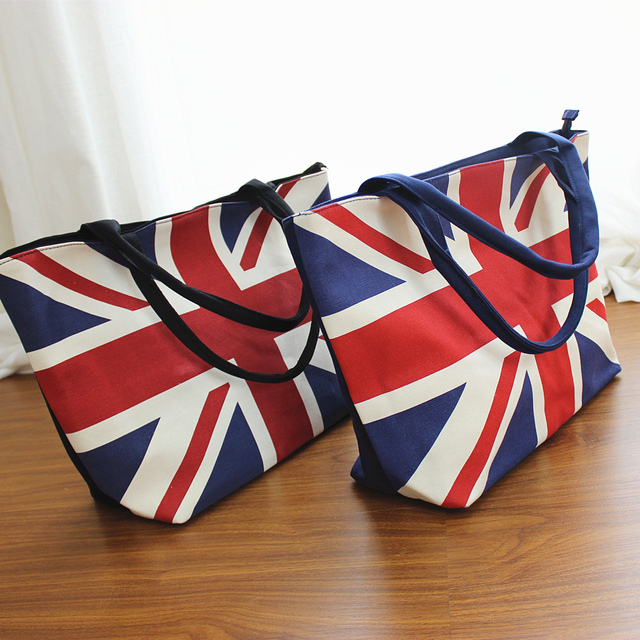 Union Jack Flag Women S Large Capacity Zipper Handbag Ping Bag Tote Shoulder Beach Bags