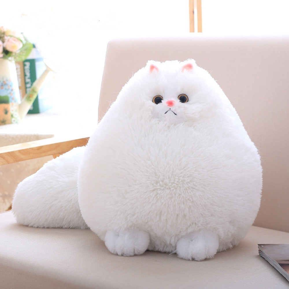 Alert Big Size 30/50cm Long Tail Cute Simulation Persian Cat Plush Toy Grilfriend Birthday Present Kids Gift Comfort Toy Kids Kitty Toys & Hobbies