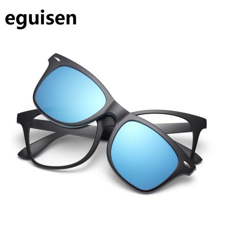 WIDTH-146 TR magnētiskais polarizējošais aizsargbrilles spoguļa komplekts īslaicīga optiskā brilles rāmji vīriešu saulesbrilles rāmja lielie sejas vīrieši