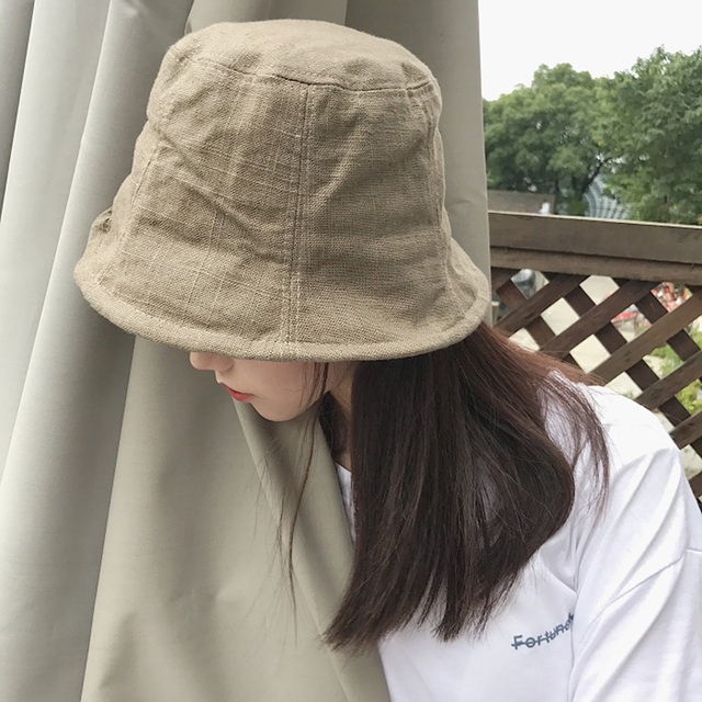 ccf88f6ab56a83 harajuku bucket hat off white street hip hop hat chapeau femme summer caps  casual Linen safari boonie hat