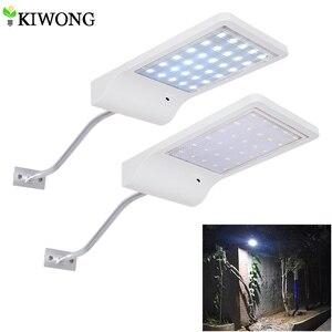 Image 1 - أحدث 30 LED الشمسية إضاءة خارجية مضادة للماء LED مصباح إضاءة آمنة شمعدانات جدارية مع تصاعد القطب للمرآب الشرفة الحظيرة