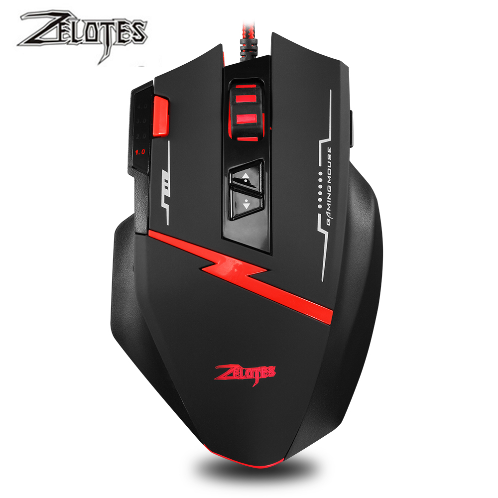 Image 2 - Zealot C 8 Programmable LED Optical USB Gaming Mouse 2500 DPI 8 Buttons computer mouse hand game Gaming Mouse for PC laptop-in Mice from Computer & Office