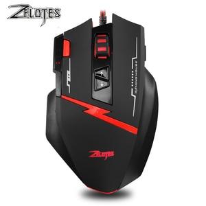 Image 2 - Zealot C 8 programable LED óptico USB Gaming Mouse 2500 DPI 8 Botones ordenador mouse juego de manos ratón para PC ordenador portátil