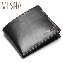 Small Vintag Wallet Brand High Quality Vintage Designer 100% Top Genuine Crazy Horse Cowhide Leather Men Short Coin Purse Walet new arrival luxury brand high quality 100% top genuine oil wax cowhide leather women bifold wallet purse vintage designer