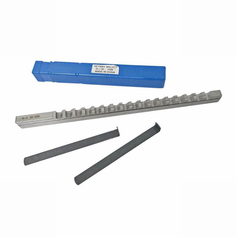 Newest Keyway Broach With Shim Cutting Tool Metric Size 12mm D Push-Type HSS Broaching Cutting Tool Knife D1/12 For CNC Router