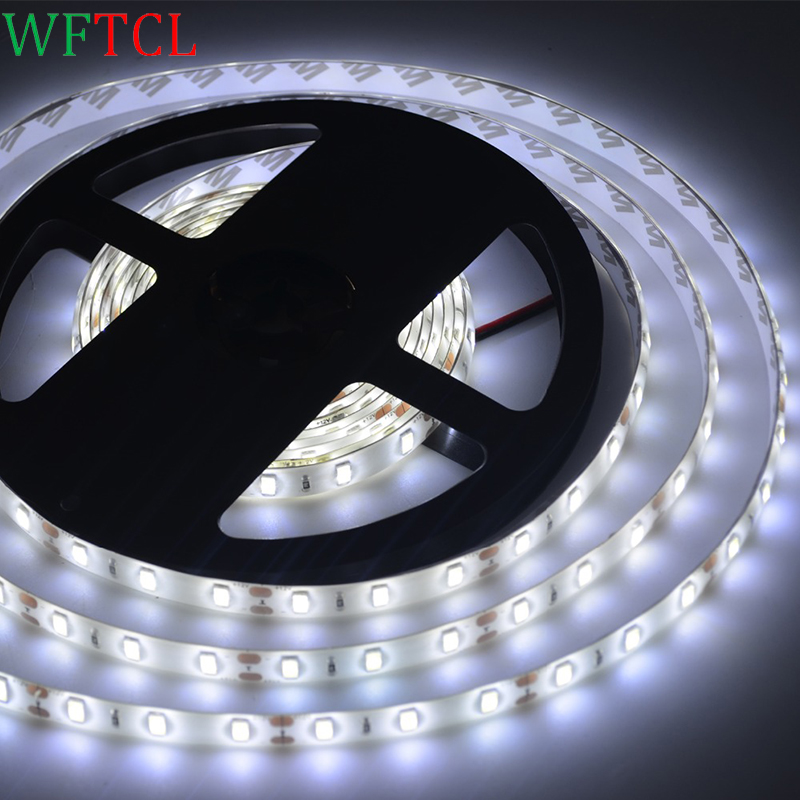 LED Tape Light 16.4Ft 12V White 5630 led strip waterproof DIY Christmas Holiday Home Kitchen Car Bar Indoor Party Decoration
