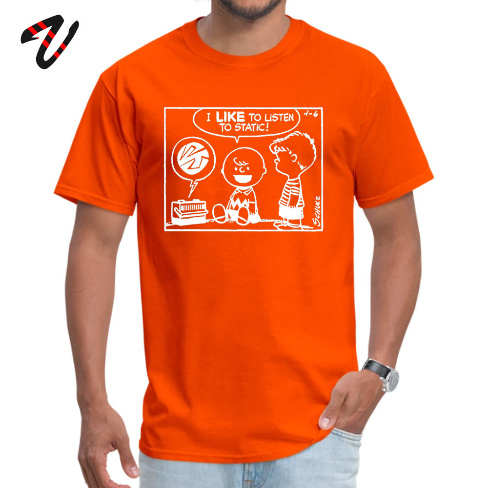 Mens Latest Normal Tops Shirt O-Neck VALENTINE DAY 100% Cotton T Shirts Family Short Sleeve Peanuts Static Tops & Tees Peanuts Static18900 orange