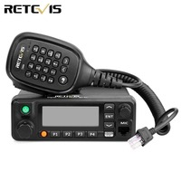 Retevis RT90 DMR Radio GPS VHF UHF Dual Band Standby Display Analog Digital 50W Mobile Car