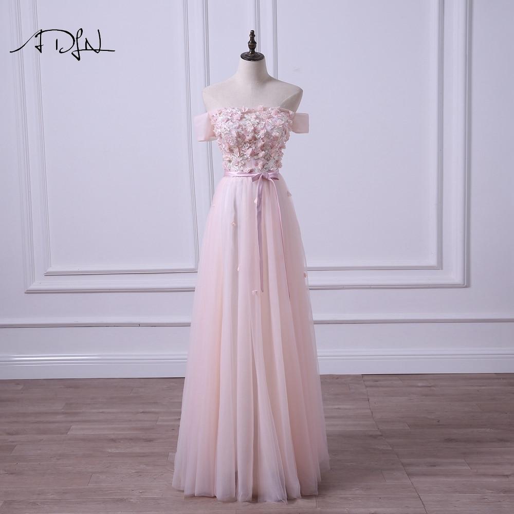 ADLN Off-the-shoulder Light Pink Evening Dresses New Arrival Long ...