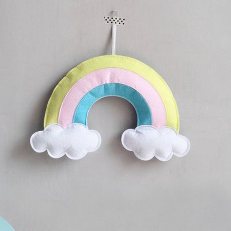 INS Nordic Baby Room Decoration Hot Air Balloon Rainbow Cloud Rain Kids Tent Room Decor Accessory Bumpers For Baby Bedroom