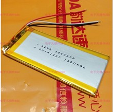 New Hot A 3 7V lithium polymer battery 304087 034087 1300MAH navigator three 3 wires driving