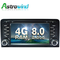 (Octa Core, 4G RAM) Android 8.0 System for Audi A3 Radio for Audi A3 DVD for Audi A3 GPS Navigation android DVR OBD2