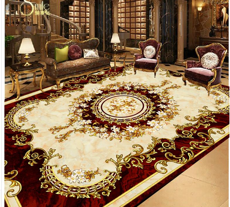 3d flooring european style carpet floor painting 3d wallpaper pvc 3d floor painting wallpaper in. Black Bedroom Furniture Sets. Home Design Ideas