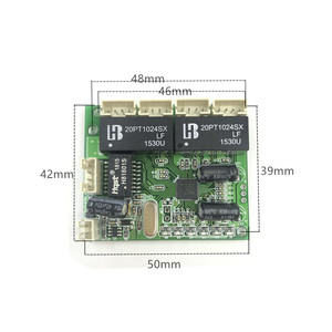 Image 3 - Mini extra small 3/4/5 port 10/100Mbps engineering switch module network access control camera exquisite compact PCBA board OEM