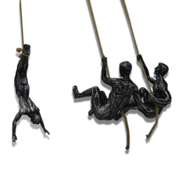 Rock Climbing Statues Sculptures Resin Hanging Extreme Sport Figure Wall Decoration Pendant Wall Statue Living Room Wall Decor