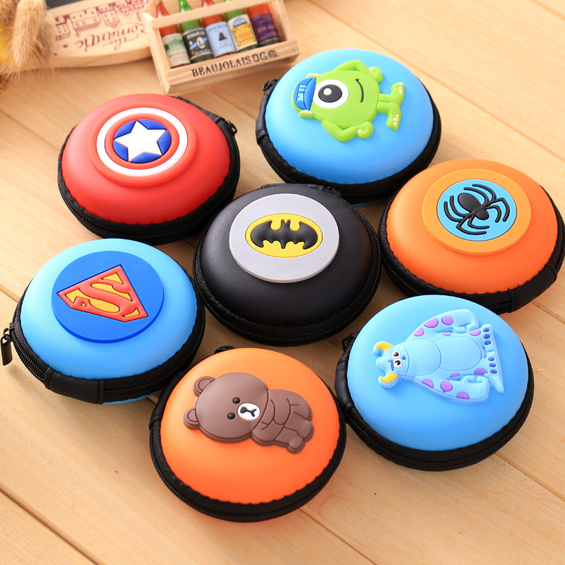 Bag-Case Hold-Box Cable-Earbuds-Storage Headphones Sd-Card Carrying Zipper Cartoon Cute