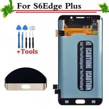 100% Diuji dengan Baik untuk Samsung Galaksi S6 Sisi Plus G928 G928F Putih/Biru/Emas LCD Tampilan Layar Sentuh digitizer Penuh Perakitan
