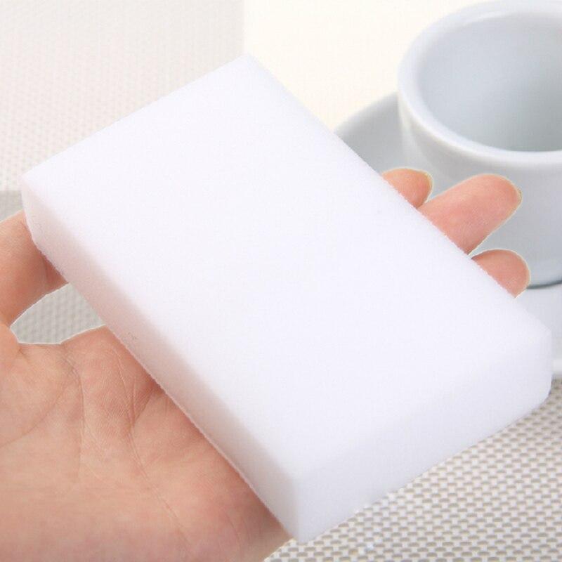 100 шт./лот меламин губка волшебная губка Ластик Меламин Очиститель для Кухня офисные Ванная комната нано губки для чистки 10x6x2 см