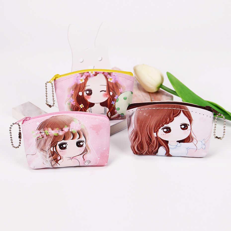 1PC nuevo monedero de dibujos animados Kawaii chica cambiar cartera monedero de mujer llave monedero para niños regalos