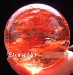 WBY  shipping RARE Red QUARTZ CRYSTAL SPHERE nice BALL 60mm