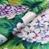 1 meter digital printed jacquard fabric width 57 inches brocade fabrics Hydrangea tecido cloth DIY patchwork 1840