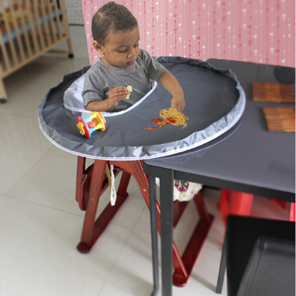 Baby Kids Placemats Waterproof Oxford Cloth Highchair Bumper Meal Pad Dish Table Protector Cover Home Kitchen w0703