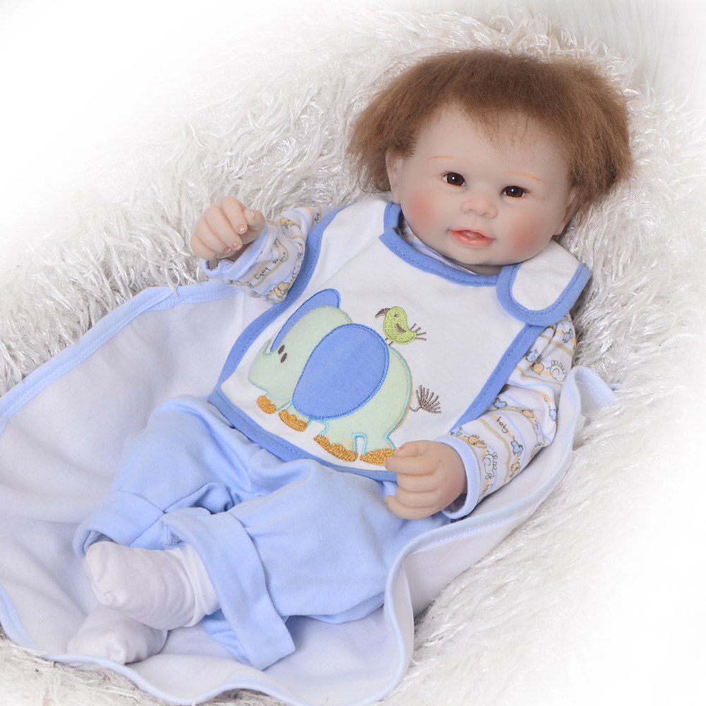 New Style 20 50 cm Reborn Baby Boy  Full Silicone Body Reborn Dolls Realistic Kids Playmates Baby Toys Boy Birthday GiftsNew Style 20 50 cm Reborn Baby Boy  Full Silicone Body Reborn Dolls Realistic Kids Playmates Baby Toys Boy Birthday Gifts