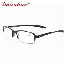 Guanhao Fashion Italy Design Foldable Reading Glasses TR 90 Frame Men and Women Anti-blue Light Plastic Slim Eyeglasses