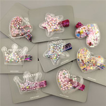 US $1.3 |Glitter Star Crown Barrettes Hair Clips for Girls Hair Accessories Twinkle Paillette Hairgrips Sequins Hairpin Kids Headwear-in Hair Accessories from Mother & Kids on AliExpress