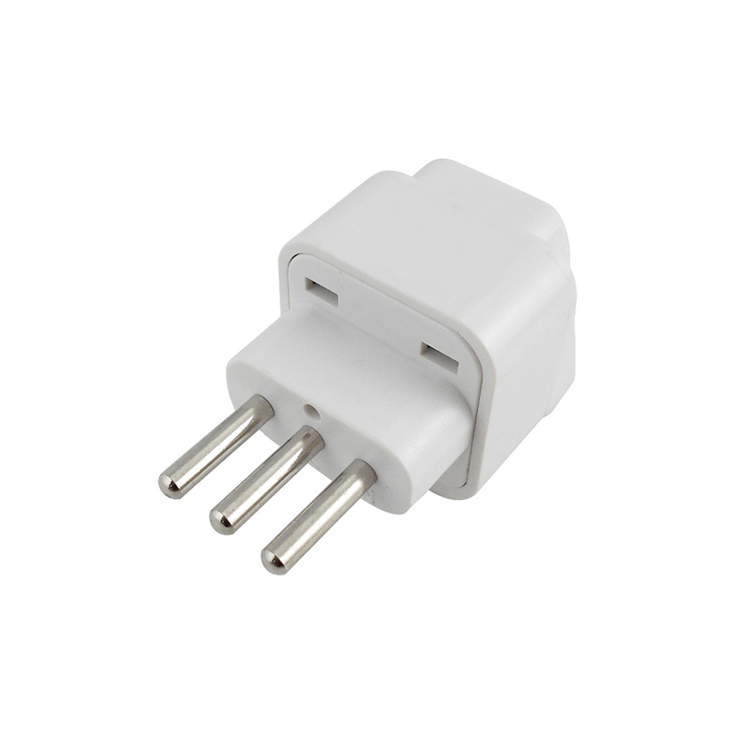 Brand New White 3 Pin Italy Converter Travel Adapter UK US EU AU to Italy Travel Power Adapter Plug For Home Travel Use