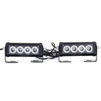 NEW Safurance Emergency Strobe Light Bar 8 LED Dash Flash Warning Lamp Traffic Light Roadway Safety