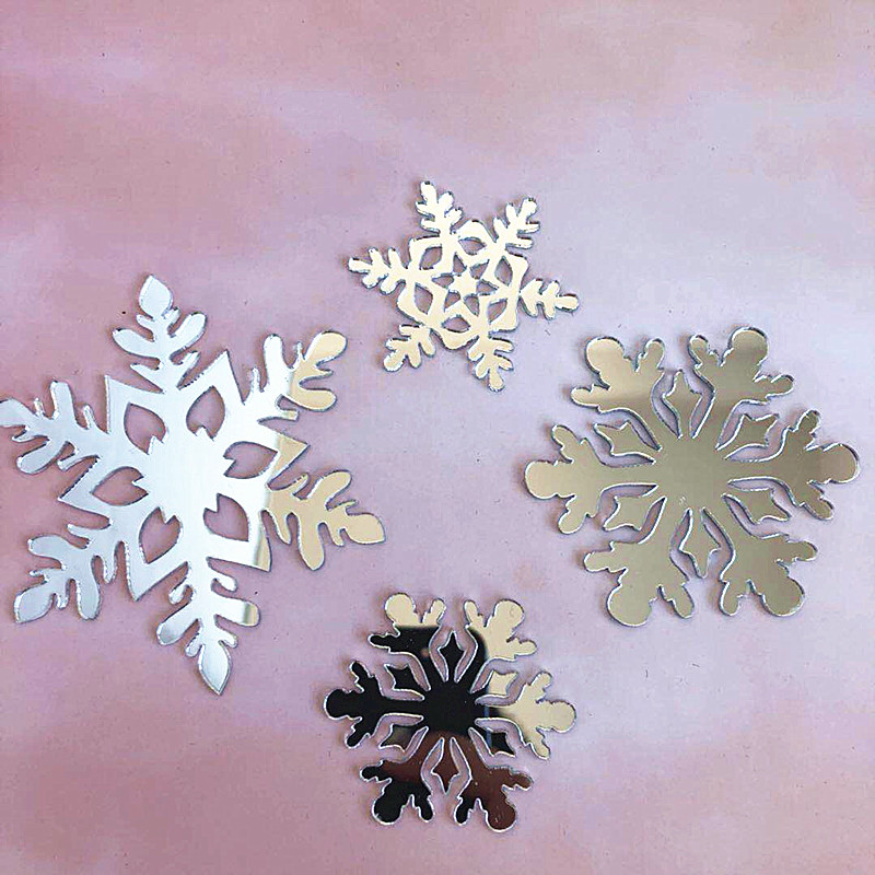 Image 5 - 4pcs Merry Christmas Acrylic Cake Topper Glitter White Snowflake Cupcake Topper For Christmas Party Cake Decorations Xmas 2019-in Cake Decorating Supplies from Home & Garden