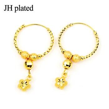 JHplated African etiopia biżuteria kolczyki okrągłe dla kobiet prezent prezenty ślubne biżuteria