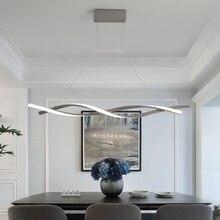 Современный подвесной светильник для кухни, Подвесная лампа 110 В 220 В, алюминиевая волна, подвесной светильник для столовой, офиса