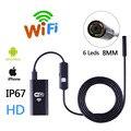 HD Wi-Fi Беспроводной Эндоскоп IP67 Водонепроницаемый Бороскоп Змея Инспекции Камеры 8 ММ Объектив Поддержка iOS iPhone Android 1 м Длина кабель