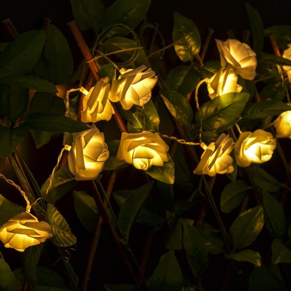 Wholesale 20 LED Rose Flower Shape Fairy String Light for Wedding ...