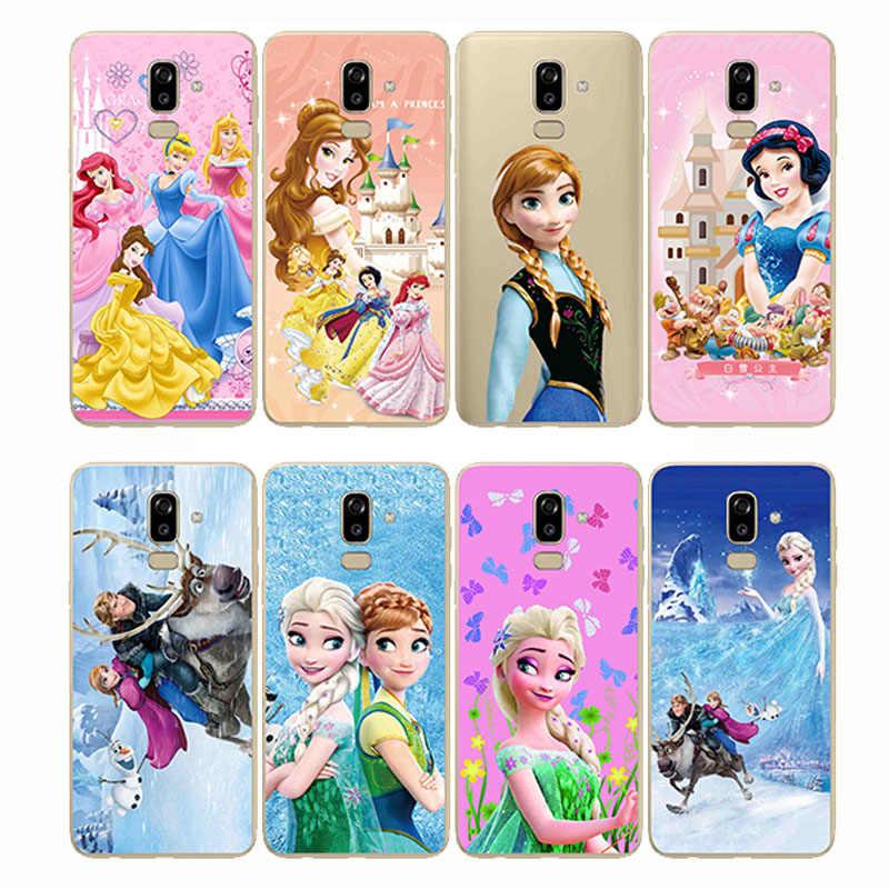 Kale Prenses Beyaz Kar Prens Karikatür telefon kılıfı arka kapak Silikon Yumuşak Samsung J4 J5 J6 J7 J8 Artı Başbakan