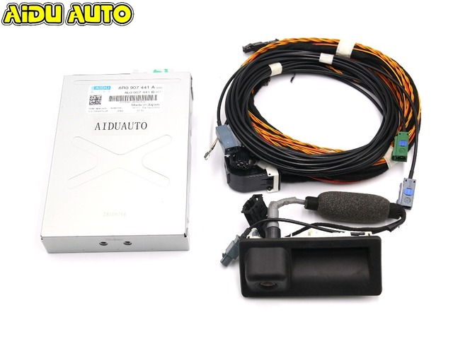 For Audi Q5 A4 B8 A5 B8 reversing camera RVC camera 8R0 907 441 A + 5N0 827 566 AA +  cable Harness