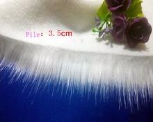 High-grade imitation fox fur,pile 3.5cm synthetic fur,faux fur fabric,Counter decoration Plush fabrics,160cm*50cm/pcs
