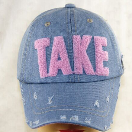 Fashion Korean Version distressed Baseball cap Parent-child cap Embroidery TAKE Grinding Do Old Summer Hat 4 color