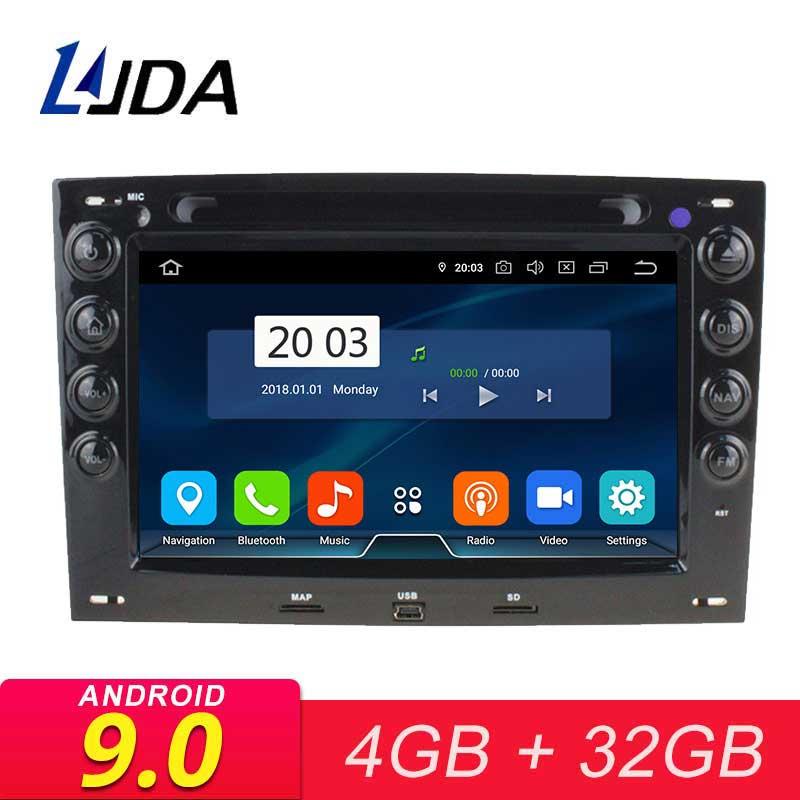 LJDA 2 DIN Android 8.1 Carro DVD GPS de Rádio Para Megane 2003 2004 2005 2006 2007 2008 2009 2010 2G RAM WIFI Multimedia RDS Estéreo