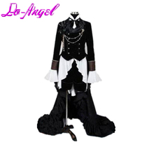 Anime Black Butler Ciel Phantomhive Black Suit Outfit Cosplay Party Costume Dress Custom Made