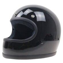 Простой Стиль Vintage полный шлем На Заказ мотоцикл шлем ретро шлем двигателя