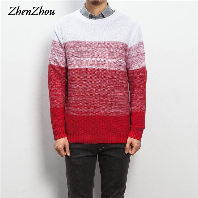 zhenzhou m 5xl autumn winter pullover men knit christmas sweater men brand 2016 stylish jumpers