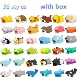 Dropshipping boneca animal cabo protetor para iphone cabo cão mordida coelho gato panda peixe boneca modelo brinquedos animal modelo engraçado
