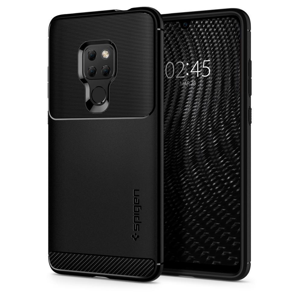 100% Original SPIGEN Huawei Mate 20/Mate 20 Pro Fall Robuste Rüstung Matte Schwarz Anti-Slip Weiche TPU drop Widerstand Fällen