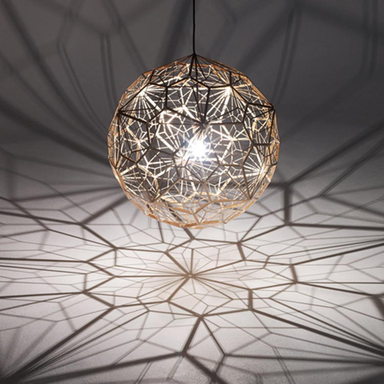 Image 2 - 거실 연구 부엌에 대한 웹 에칭 현대 펜던트 라이트 섀도우 램프의 복제lamps for living roomfor lamplight replica -