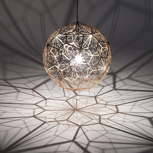 Image 2 - Réplica de Web Etch, lámpara de sombra colgante moderna para sala de estar, estudio, cocina