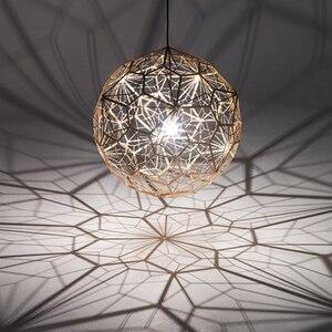 Image 2 - Réplica de web etch luminária de luz pingente moderna, lâmpada para sala de estar estudo cozinha